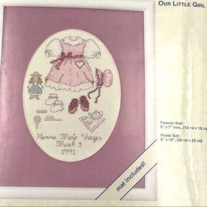 """Our Little Girl"" Counted Cross Stitch Kit"